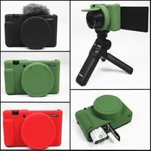 ZV-1 Case Zakao Soft Silicone Bag Lightweight Slim Skin Rubber Protective Digital Camera Case Cover for Sony ZV-1 ZV1 Green