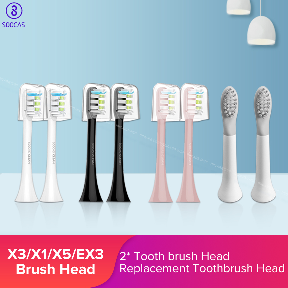 Soocas X3 X1 X5 So White EX3 Sonic Electric Toothbrush Heads Original Tooth Brush Head Replacement Tooth Brush Heads 2PCS Replacement Toothbrush Heads    - AliExpress