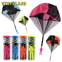 1/2pc Mini Hand Throwing Parachute Outdoor Sports Fly Kids Toy Playing Soldier Fun Flying Educational for Children