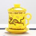High-grade Chinesischen Drachen Becher Keramik Teetassen Luxus Büro Wasser Tasse Filter Tee Tasse Tee-ei Kostenloser Versand