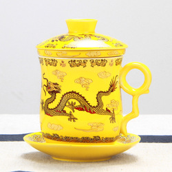 High-grade Chinese Dragon Mug Ceramic Teacups Luxury Office Water Cup Filter Tea Cup Infuser Free Shipping