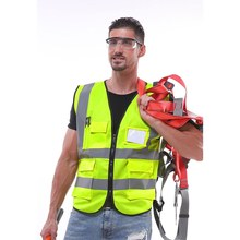 Hot Reflective Vest Construction Engineering Safety Protective Clothing Traffic Warning Green Car Fluorescent Coat(China)