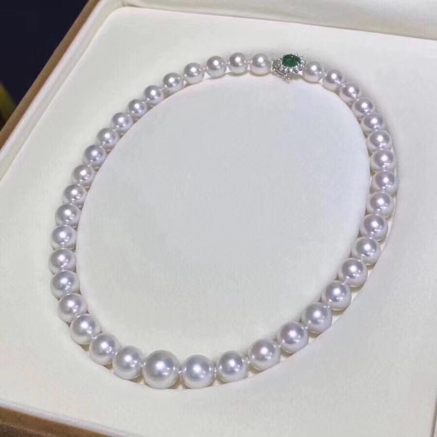 D119 Pearls Necklaces Fine Jewelry Natural Fresh Water 9-10mm Peals Necklaces for Women Fine Pearls Necklaces