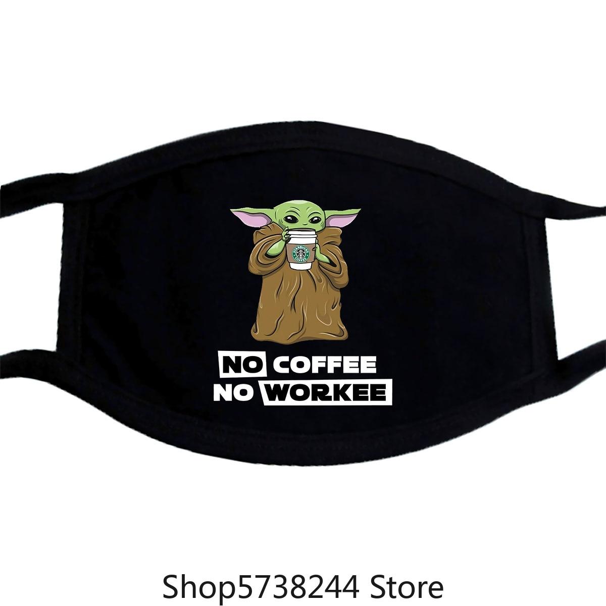 Baby Yoda Star Work Funny Nice Gift Mask Washable Reusable Mask For Unisex Black