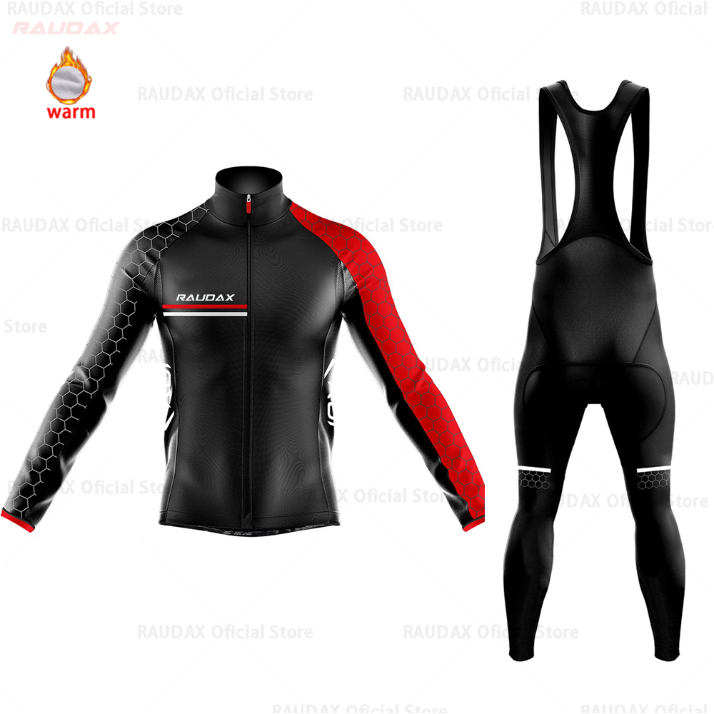 Winter Thermal Fleece Cycling Clothes Men's Jersey Suit MTB Sport Riding Bike Cycling Clothing Bib Pants Warm Sets Ropa Ciclismo
