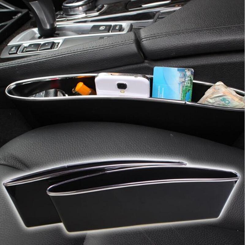 2 x Black Car Seat Pocket Catcher Caddy Storage Bag Holder Side Organiser