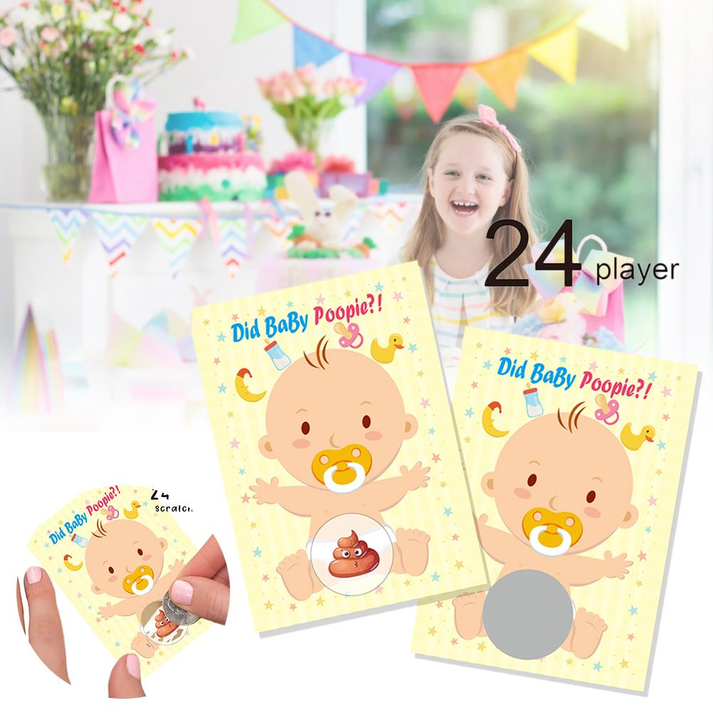 1 Set Of Game Scratch Card Baby High Quality Shower Games Card With Beautiful Colors For Party Fun Family Games image