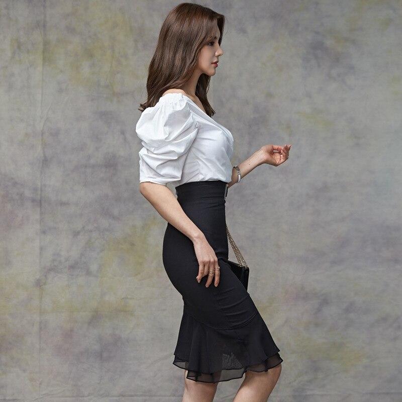 2019 New Style Flounced Sheath Skirt