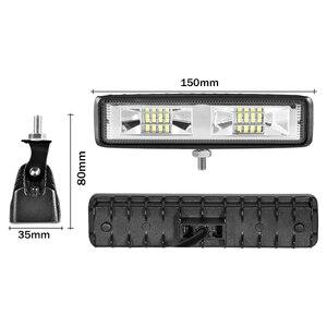 Image 2 - Aeobey 1pcs LED פנסי 12V עבור אוטומטי אופנוע משאית סירת טרקטור קרוואן Offroad עבודה אור 48W LED עבודת אור זרקור