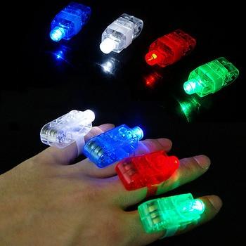 1Pcs LED Finger Light Beam Dance Disco Performance Party Glowing Decoration Colorful Children's Toys