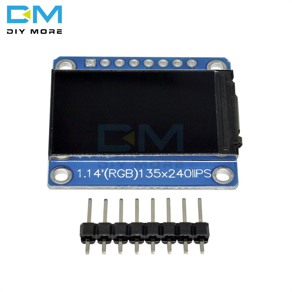 1.14 Inch ST7789 TFT 135*240 RGB LCD Display Module Drive IC HD Screen IPS View 8Pin 3.3V Full Color 4 Wire SPI Interface 1.14'