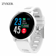 ZYKER Bluetooth Waterproof Smart Watch Heart Rate Monitor smartwatch Sport Bluetooth Smartwatch Activity Fitness tracker Watch origianl garmin vivoactive hr smart watch bluetooth 4 0 waterproof smartwatch heart rate monitor wristband gps