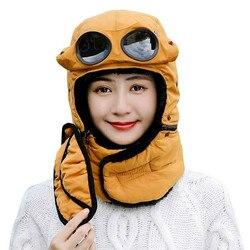 Nowo termiczna czapka zimowa czapka traperska w okularach jesienno zimowa jazda na rowerze wiatroszczelna czapka z daszkiem BN99 w Zewnętrzne narzędzia od Sport i rozrywka na
