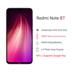 "Image 2 - Global Version Xiaomi Redmi Note 8T 8 T 4GB 64GB Smartphone NFC Snapdragon 665 Octa Core 48MP Quad Rear Camera 6.3"" 4000mAh"