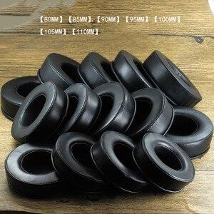 Image 4 - Coussinets doreilles ronds en peau de mouton 70MM 75MM 80MM 85MM 90MM 95MM 100MM 105MM 110MM pour audio technica pour DENON pour casque Fostex