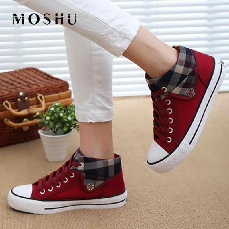 รองเท้าผ้าใบฤดูร้อน Wedges รองเท้าผ้าใบรองเท้าผู้หญิงรองเท้าสบายๆหญิงน่ารักสีขาวตะกร้าดาว Zapatos Mujer Trainers 5 ซม.ความสูง tenis