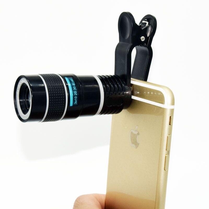 Мобильный телефон камера Телескоп 8x мини-телескоп Карманный Монокуляр высокой четкости Свет Уровень ночного видения Монокуляр