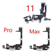 Charging Flex Cable For iPhone 11 Pro Max USB Plug Charger Port Dock Connector With Mic Headphone Audio Jack Flex Cable
