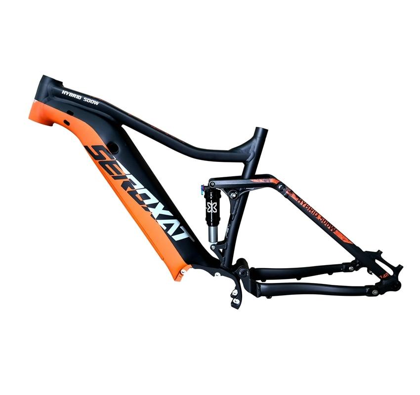 2019 E BIKE 29ER motor bike frmae suspension frame aluminium alloy cross country electric frames shock bicycle downhill frame - 2