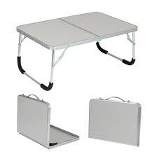 Portátil ao ar livre dobrável mesa de acampamento piquenique liga de alumínio portátil mesa de computador à prova de água durável ultra-leve