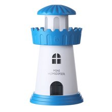 цены 150ml Lamp Lighthouse Humidifier USB Led Air Diffuser Purifier Atomizer Tower Essential oil diffuser for Home difusor de aroma