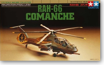 Tamiya 60739 1/72 Scale RAH-66 Comanche Attack Helicopter Display Collectible Toy Plastic Assembly Building Model Kit