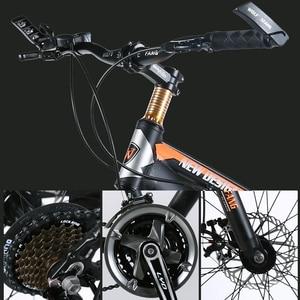 Image 2 - دراجة جبلية من وولف فانغ بسرعات 7/21 26 بوصة × 4.0 بوصة دراجة طريق سميكة دراجة ميكانيكية بقرص مكابح للربيع دراجة مصنوعة من سبائك الشوك
