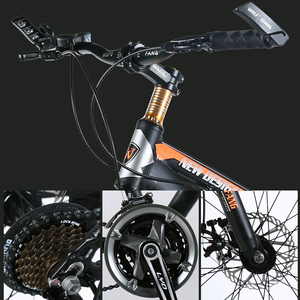"Image 2 - Lobo fang bicicleta mountain bike 7/21 velocidade 26 ""x 4.0"" gordura bicicleta bicicletas de estrada freio a disco mecânico primavera garfo liga rodas da bicicleta"