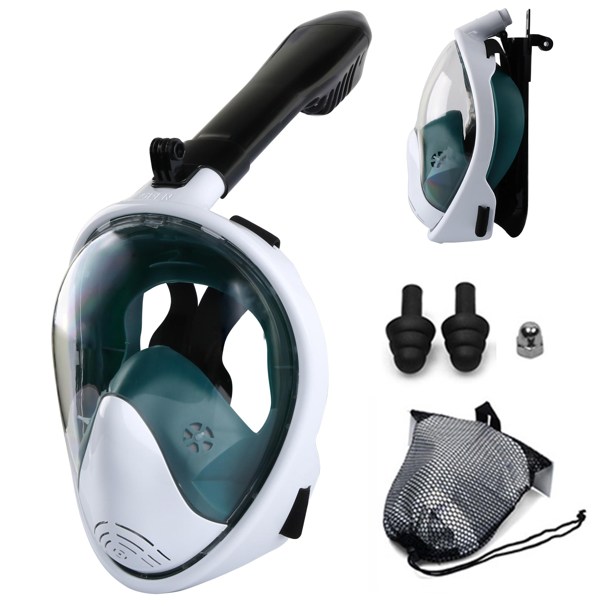 Маска для подводного плавания, незапотевающая на все лицо, дыхательные маски для сноркелинга, безопасное водонепроницаемое оборудование д...