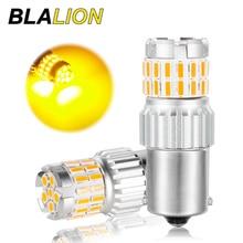 Süper parlak araba LED ampuller yedek dönüş sinyal ışıkları Amber sarı fren lambaları 1156 BA15S 1157 BAY15D T20 7443 7440 T25