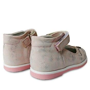 חמוד 1 זוג עור נעלי קשת תמיכת אורטופדי ילדי ילדי אופנה נעליים, חדש ילדה אחת נעליים