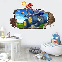 3D Decorative Wall Sticker Self-adhesive Paper Super Mario Cartoon Wall Sticker for Children's Bedroom Creative Graffiti 3d wall sticker self adhesive for bedroom