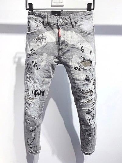 Pantalones De Mezclilla Rectos Para Hombre Y Mujer Pantalon Clasico De Estilo Urbano Rasgado A Rayas Blancas Y Azules Leather Bag