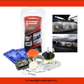 Car Headlight Restoration Polishing Kits Multipurpose Headlamp Lens Repair for Auto Motorcycle Improving Visibility And Security 10