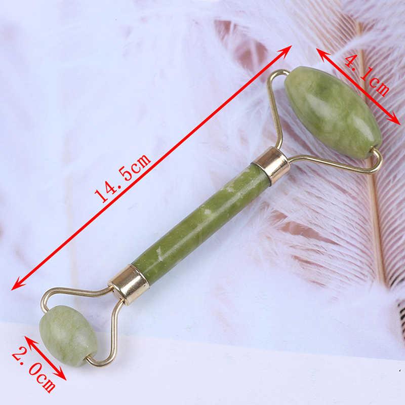Nieuwe Eye Gezicht Hals Ontspanning Afslanken Tool Jade Roller Massager Gezicht Lichaam Hoofd Hals Voet Steen Groene Facial Jade Roller massager