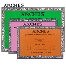 ARCHES Canson Watercolor Paper Cotton 300g Pro Artist Painting/Drawing Papers Fine Medium Coarse Grains 20Sheets Art Supplies