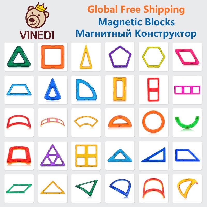 VINEDI большой размеры Магнитная Конструкторы Магнитный конструктор Набор конструкторов модель и строительство игрушки магниты Развивающие ...