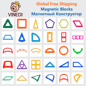 VINEDI Big Size Magnetic Blocks Magnetic Designer constructor Set Model & Building Toy Magnets Educational Toys For Children(China)