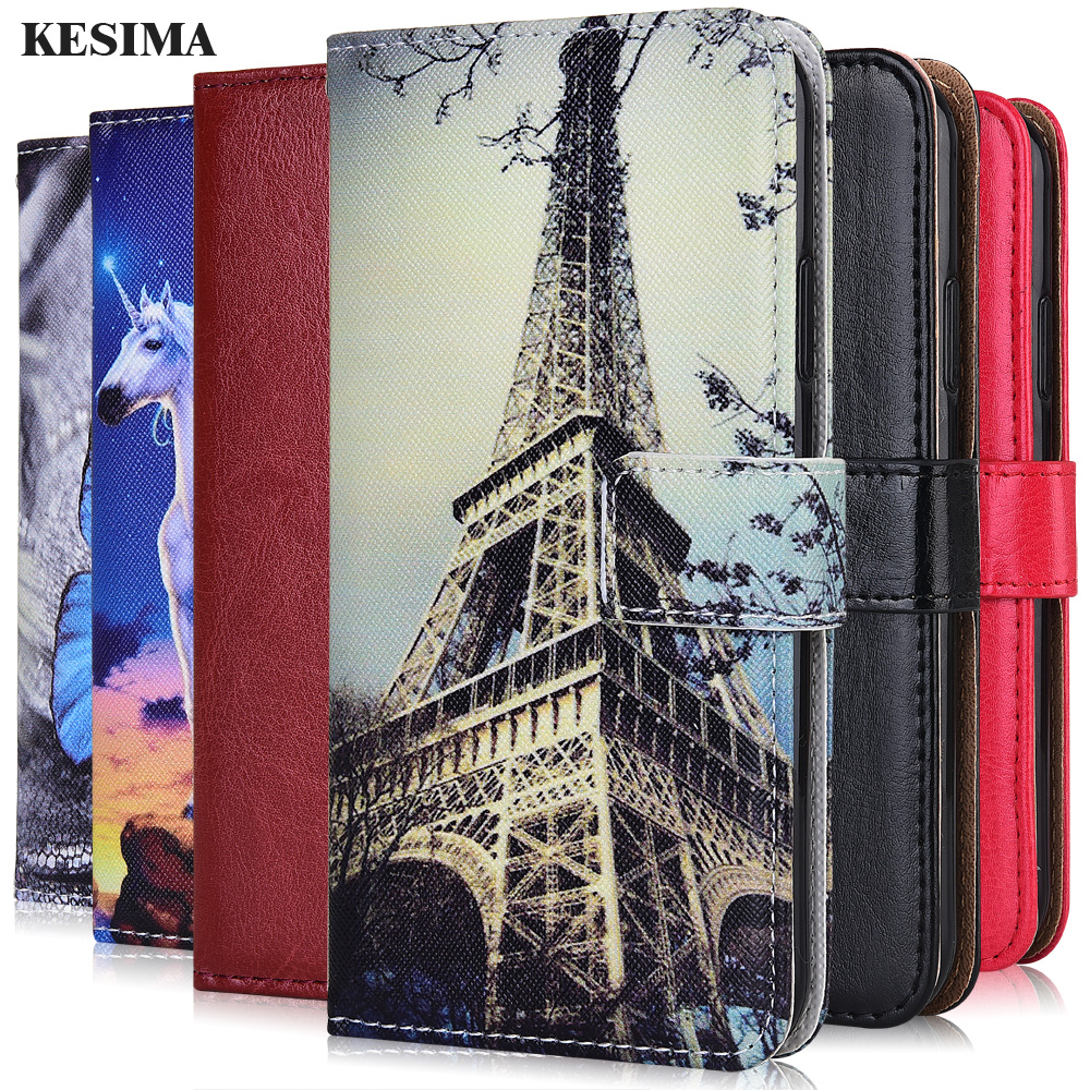 For On Huawei P30 Honor 7A 8S Prime 30 Play 9A 4T Pro Plus Cover Plain Wallet Case For Huawei nova 7i 7 SE Pro 5G Cute Case(China)