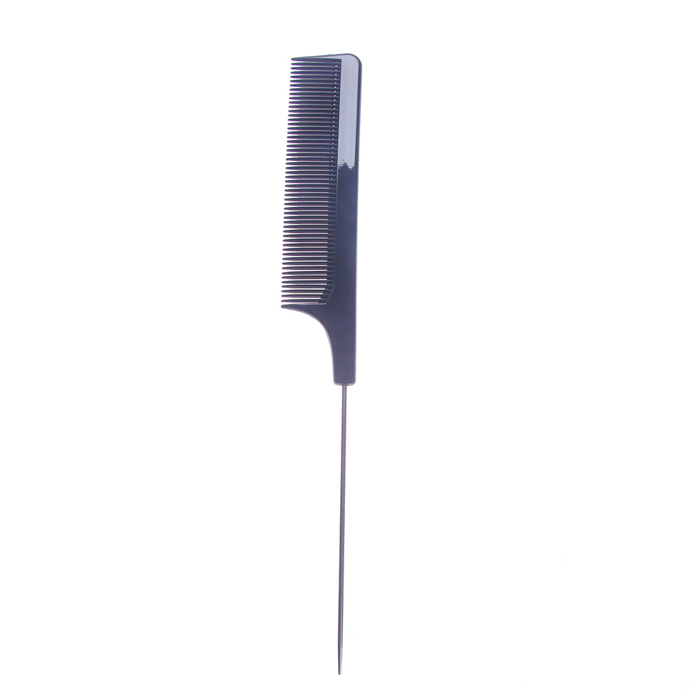 Hot Sale Fine-tooth Metal Pin Tail Combs Barbers Rat Tail Comb Hairdressing Hair Styling Tool Comb Black
