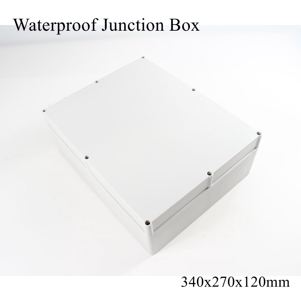 340x270x120mm Waterproof Plastic Enclosure Box Outdoor Cable Connection Junction Electrical Project Case ABS IP65 340*270*120mm