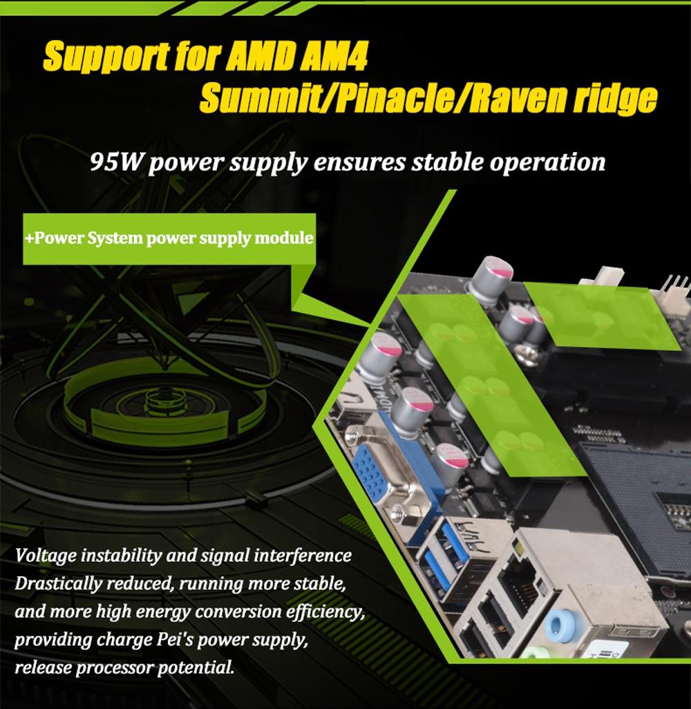 Carte mère d'origine MAXSUN ms-earth shaker A320M-VH AMD mATX double canal DDR4 Gigabit LAN 4 x SATAIII USB3.1 VGA HDMI - 4