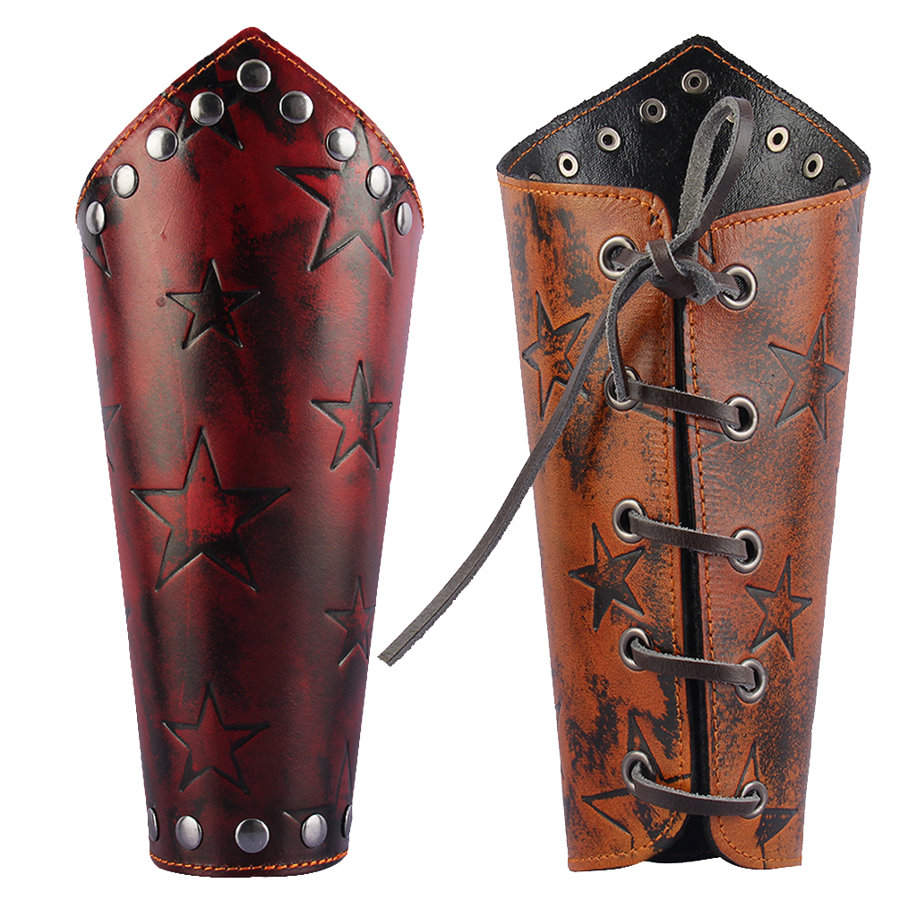 Steampunk Gothic Leather Arm Bracers Arm Armor Cuff String Steampunk Medieval Lace Up Arm Warmer Cosplay Costum Decor