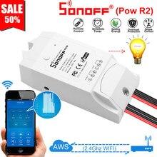 Sonoff POW R2 Smart Wireless WiFi Schalter 16A Echtzeit Power Verbrauch Messung Kompatibel mit eWelink Alexa Google Hause