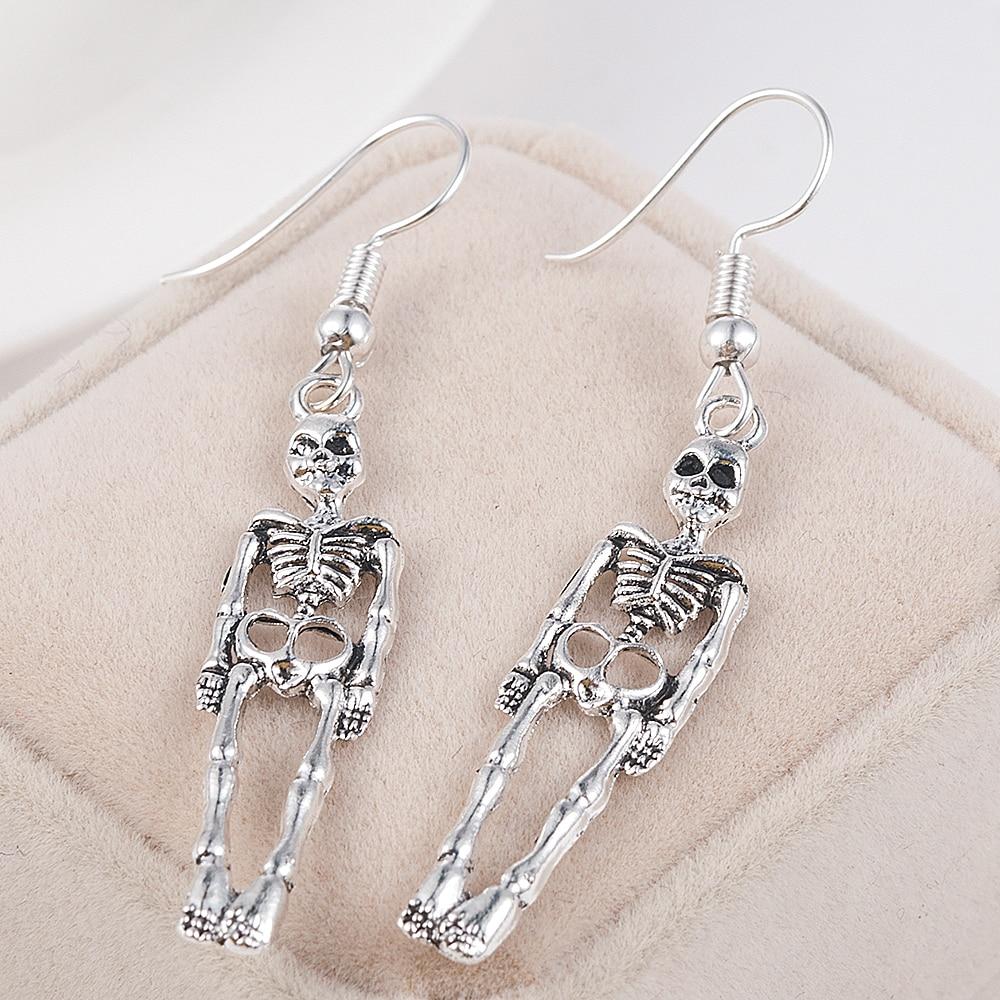 Halloween Vintage Skeleton Skull Dangle Earrings for Women Jewelry Party Gifts Aretes De Mujer Modernos 2019 4
