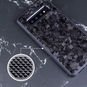 Image 4 - אמיתי מזויף פחמן סיבי מקרה עבור סמסונג S10 S10E חזרה כיסוי תבנית יוקרה עבור Samsung Galaxy S10 בתוספת נייד טלפון מקרה