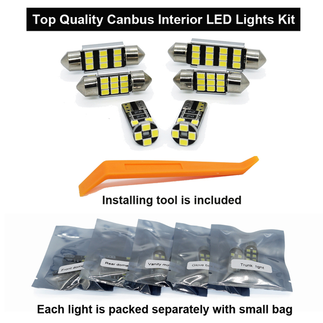Zoomsee Interior LED For Chrysler 200 2011-2017 Canbus Vehicle Bulb Indoor Dome Map Reading Trunk Light Error Free Auto Lamp Kit 2
