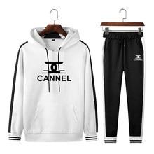 Casual Tracksuit Men Hooded Sweatshirt Outfit Spring Autumn Mens Sets Sportswear 2021 Male Hoodie+Pants 2PCS Jogging Sports Suit
