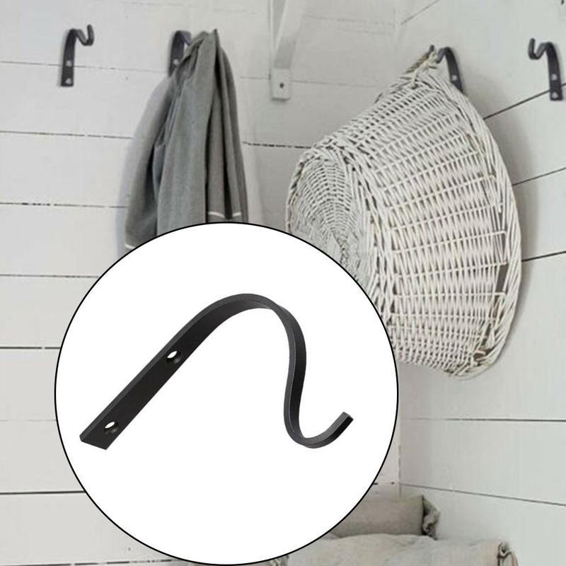 2 Pcs Metal Wall Hooks J-hook Storage Hook Vintage Wall Hanger Screw Hooks For Cloth Towel Rack Coat Hat Holder Wall Hook