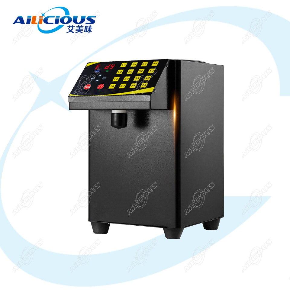 RC16 Высококачественная машина для приготовления чая, молока, чая, фруктозы, количественная машина, автоматическая фруктоза, Диспенсер сиропа, 16 групп, 8л - Цвет: Black